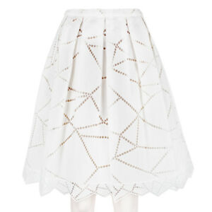 Christopher-Kane-White-Cotton-Broderie-Anglaise-Inverted-Pleat-Skirt-UK10-IT42