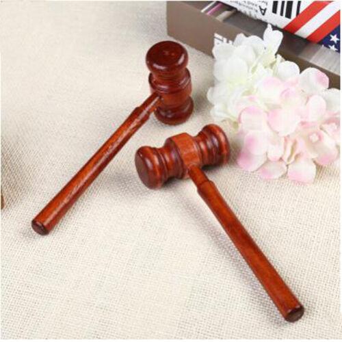 1 Pc Gavel Block Judge Lawyer Auction Sound Wooden Handcrafted Court Hammer QK