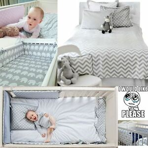 2-9 Pcs Baby Nursery Bedding Set GIRLS/BOYS 120x90 135x100 150x120cm 100% COTTON