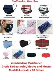 Stoffmaske Mund Nasen Atem Behelfs Maske Waschbar Alltags Sport Maske Communtiy