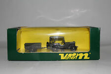 VEREM MILITARY #9525 FRENCH MILITARY WILLYS JEEP & TRAILER REMORQUE, BOXED