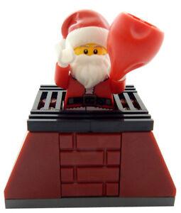 NEW LEGO SURFING SANTA CLAUS MINIFIGURE figure minifig christmas surfboard beach