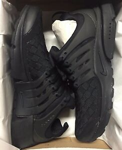 Image is loading NIKE-AIR-PRESTO-SE-ALL-BLACK-WOVEN-HUARACHE-
