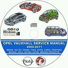 OPEL / VAUXHALL MOVANO AGILA ANTARA ZAFIRA 2002 - 2011 SERVICE REPAIR MANUAL DVD