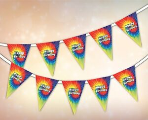 Happy-Birthday-Summer-Collection-Tie-Dye-Hippie-Festival-Bunting-15-flags
