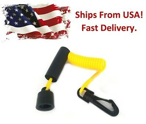 Aftermarket DESS Ignition Key Cap & Floating Lanyard Replaces SeaDoo 278002199