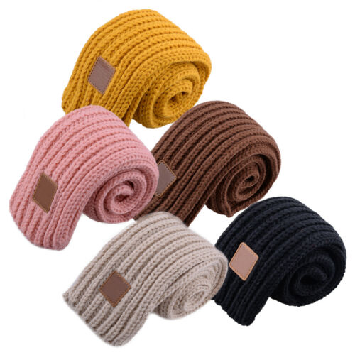 Child Winter Warm Wool Knit Shawl Long Neck Scarf Neckerchief Kid Boy Girl Baby