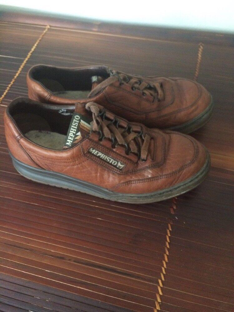 MEPHISTO Marrón 7 Cuero Para mujeres Zapatos M 7 Marrón Con Cordones 858c9e