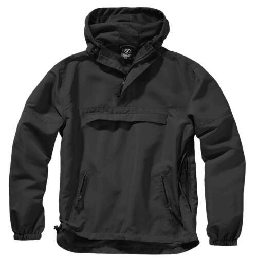 BRANDIT SUMMER WINDBREAKER Lightweight Tactical Hooded Security Jacket Black