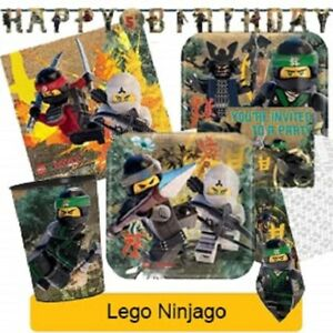 LEGO-NINJAGO-Birthday-Party-Range-Tableware-Balloons-amp-Decorations-Amscan