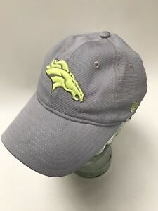 NFL-Denver-Broncos-Baseball-Cap-Hat-Grey-And-Yellow-Women-039-s-Size