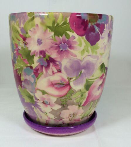 Ceramic Flower Plant Pot 16cm Tall