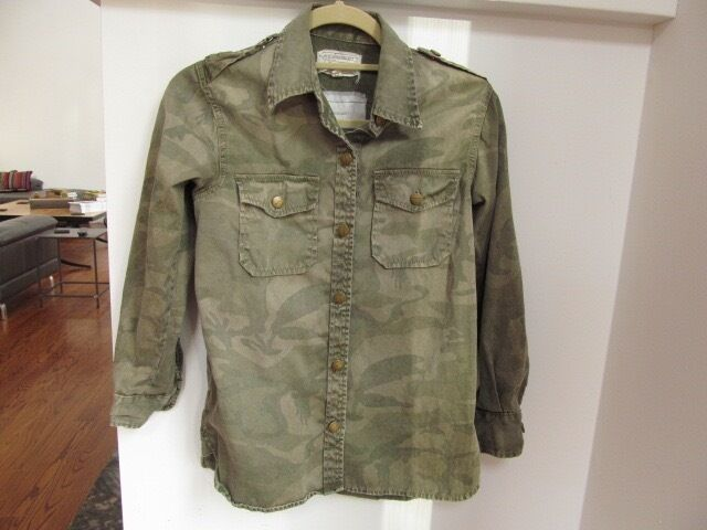 Current Elliott The perfect Shirt Camouflage Größe XS (EUC)  Retail Sold Out