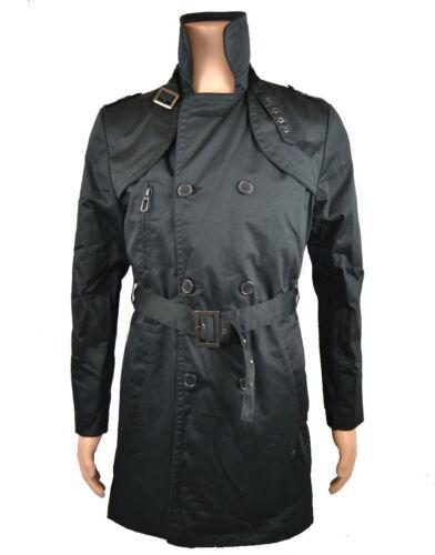Eleven coat Évasé Homme Paris 'trench ' Noir Pity epjk012 7wpZfUq7