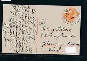 09565) Bahnpost Ovalstempel Reichenbach-lengenfeld Train 2121, Carte 1918-afficher Le Titre D'origine