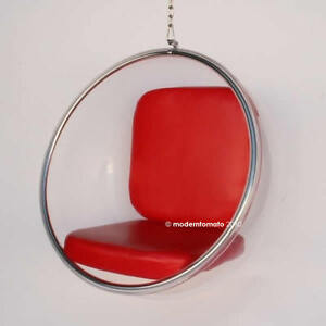 Image Is Loading Mid Century Modern Hanging Globe Egg Bubble Chair