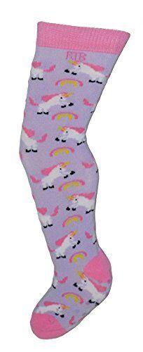 Rock-a-Thigh Baby Girls Thigh High Socks Size 0-12 Months ~ Unicorns