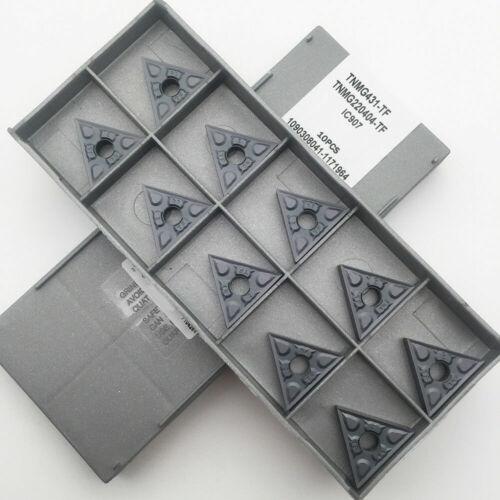 10PCS TNMG220404-TF IC907 TNMG431-TF CNC Carbide Inserts FOR STEEL