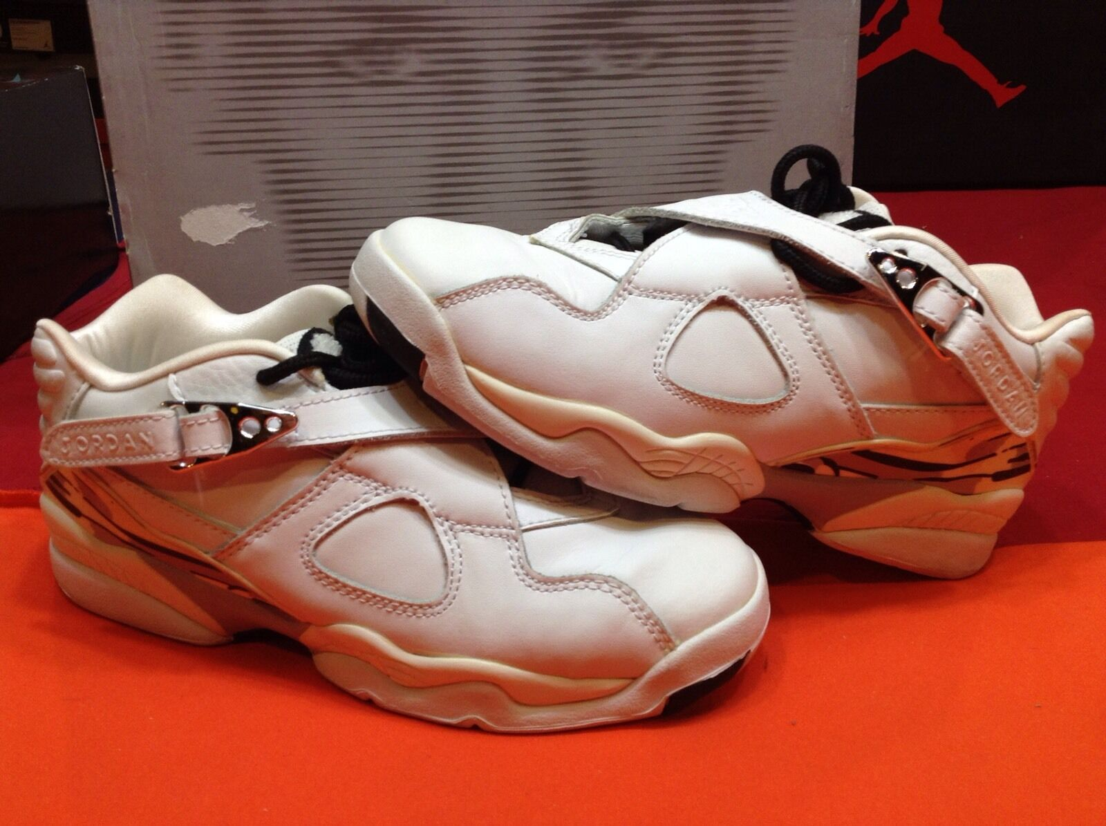Seasonal clearance sale Nike Air Jordan Retro VIII Low GS White Chrome Silver Comfortable