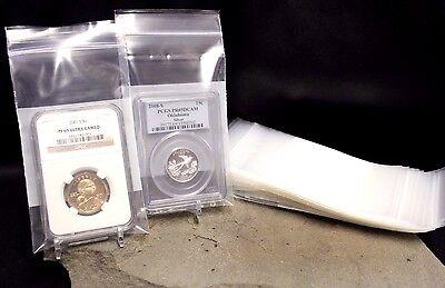 50 Slab Storage Bags Protect Store 3x5 5MIL NGC PCGS ICGS Certified Slabs Bag