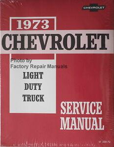 1973 chevy pickup truck suburban blazer van factory shop service rh ebay com Clymer Manuals 2002 chevy blazer factory service manual