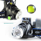8000LM Zoomable CREE XM-L T6 LED 18650 HeadLamp Torch HeadLight Rechargeable