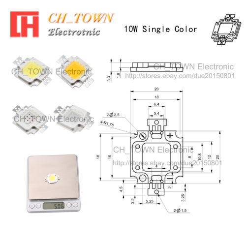 High Power 3w 5w 10w 20w 30w 50w 100w UV Ultra Violet SMD LED COB Chip Light USA
