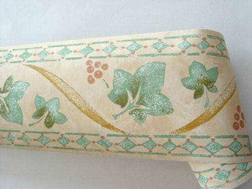 Alkor Fablon bordure Borders 5m x 10,7cm Ivy twist peach//Green vert 61340