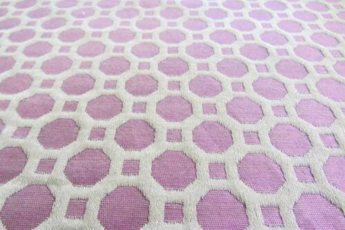 Honeycomb Jewel //Aubergine//Grey Faux Silk Jacquard Curtain//Craft Fabric