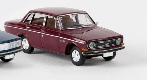 Neu Brekina 29415-1//87 Volvo 144 Limousine Weinrot-Metallic