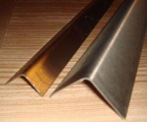 Edelstahl Eckschutzschiene,Kantenschutz,Winkel,Eckleiste,1,5 mm,Korn240,3 fach