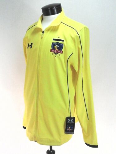 UNDER ARMOUR Storm Jacket Colo Colo Soccer Yellow Logo 1268438 Fitted Men/'s New