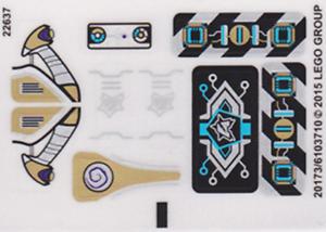 Lego ultra agents pegatina//sticker de set 70167 invizable Gold Getaway