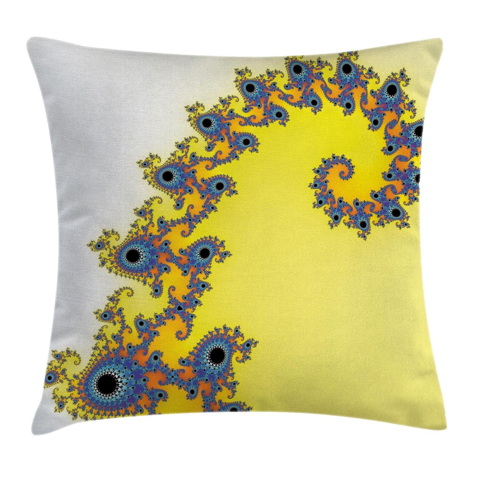 East Urban Home Floral Symmetrical Fractal Pattern Pillow For Sale Online Ebay