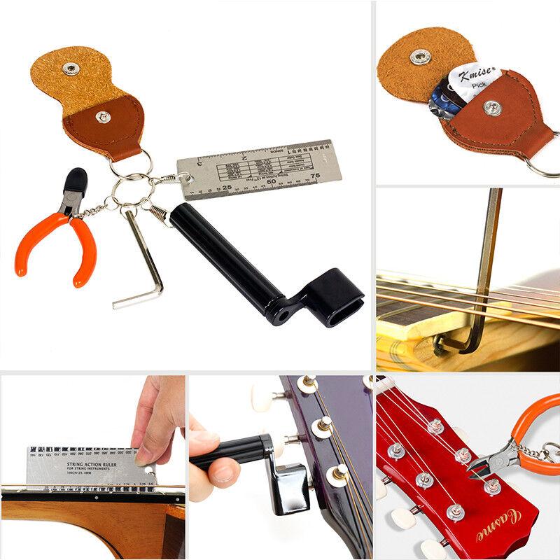 guitar strings changing kit tuner picks capo cutter winder all in 1 package ebay. Black Bedroom Furniture Sets. Home Design Ideas