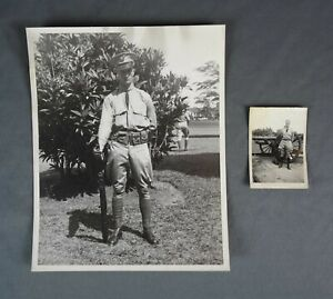 Vintage WW2 Photographs of Army Officer