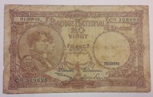 Belgique, 20 Francs, 1948, Belgïe, 1948 Banknote