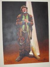 Barry Leighton Jones Original Painting Emmett Kelly Spotlight 36x48 Signed