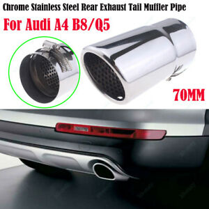 1Pcs-70mm-For-Audi-A4-Q5-Chrome-Stainless-Steel-Exhaust-Tail-Muffler-Tip-Pipe