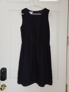Van-Heusen-Studio-Women-039-s-Sleeveless-Empire-Waist-Lace-Black-Dress-SZ-10