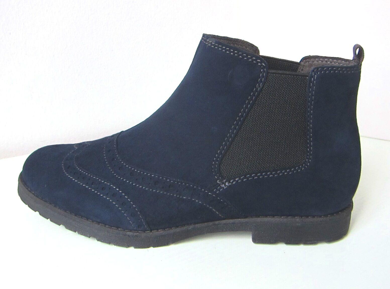 Tamaris serraje botas botín azul talla 40 botines botaee azul Suede
