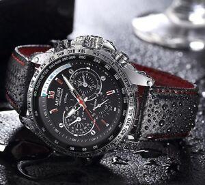 montre bracelet cuir homme discount