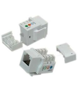 image is loading keystone-jack-cat3-white-telephone-phone-line-110-