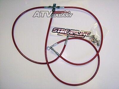Streamline Red Steel Braided Front /& Rear Brake Lines Kit Honda TRX 400EX 400X