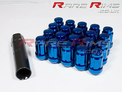 Blue Spline Wheel Nuts x 20 12x1.5 mm Fits Mitsubishi EVO Lancer FTO GTO