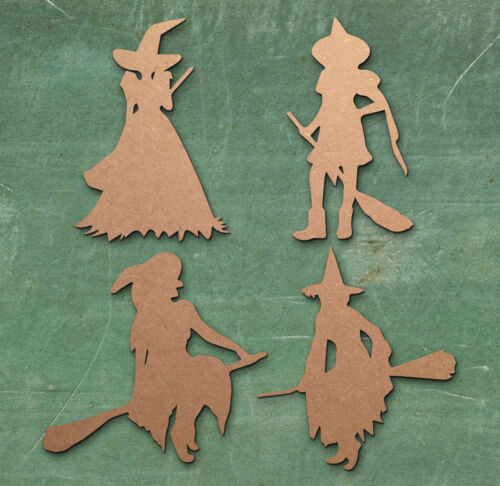 Witch Halloween Laser cut mdf wood shape craft arts decoration ALL SIZES