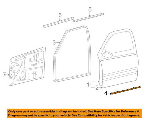 Dodge CHRYSLER OEM 06-09 Ram 2500 Front Door-Lower Seal Left 55277217AA