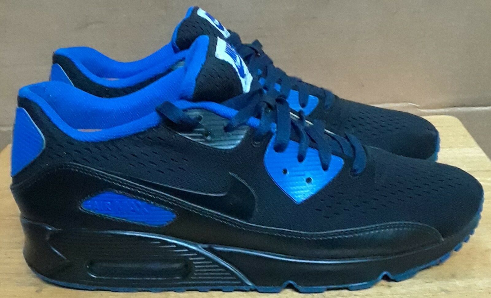 Nike Air Max 90 Premiun ID 822563 981 Black bluee. Sz 12
