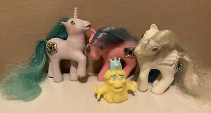 MLP G1 Lot Princess Ponies Bejeweled Lot Sparkle Tiffany Primrose & Bushwoolie