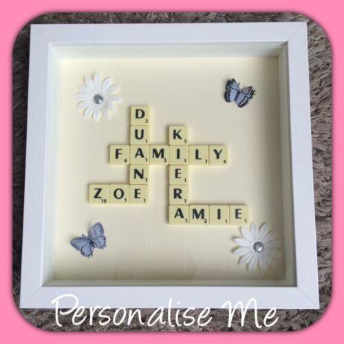 Personalised Scrabble Art Family